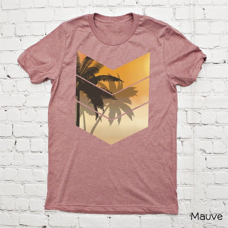 Chevron Palm Tree Tee