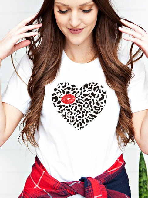 Leopard Heart Kiss - 1583