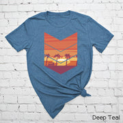 Chevron Sunset Beach Tee