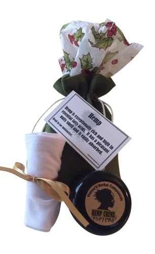 2 Oz Hemp Creme and Cotton Moisturizing Socks - White. Great Holidays Gift!