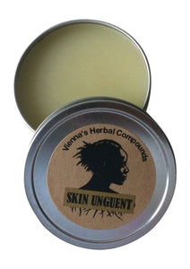 Herbal Skin Unguent. All Natural Handcrafted Herbal Salve for Skin Irritations. 2 Oz.