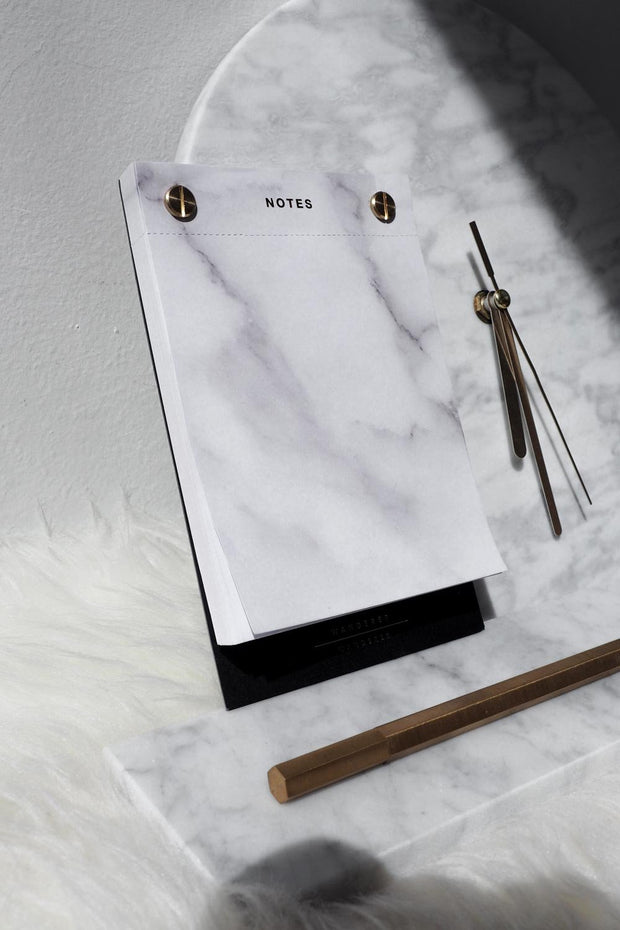 Gold Brass Marble Notepad
