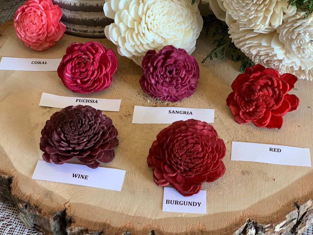 Sample Sola Wood Flowers, Color Sample, Flower Sample