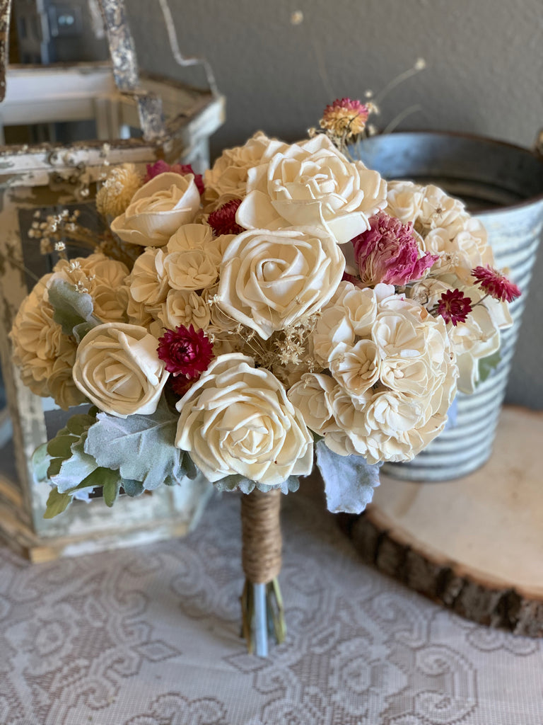 READY TO SHIP, Hydrangea Sola Flower Bouquet