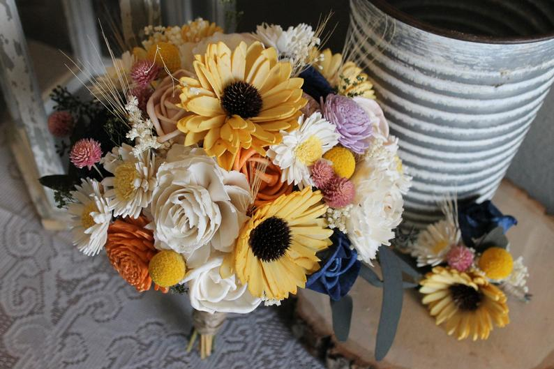 Sunflower & Daisy Sola Flower Bouquet