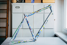 "Load image into Gallery viewer, I draw on Bikes ""Mountain Range"" Track Frame Aluminium"