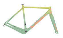 Load image into Gallery viewer, Peacemaker Carbon Frameset | Artist Series |  Yellow / Neo Mint Fade