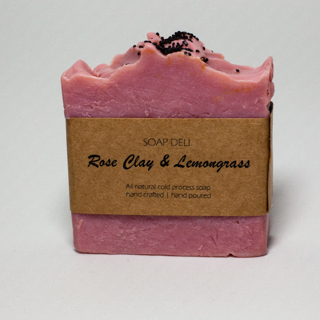 Rose Clay With Lemongrass Soap (last one available)