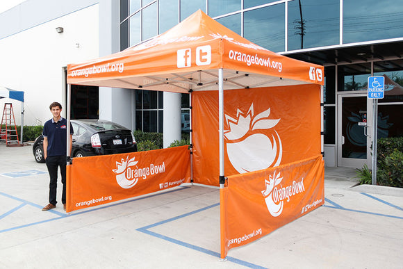 10x10 pop up tent with logos