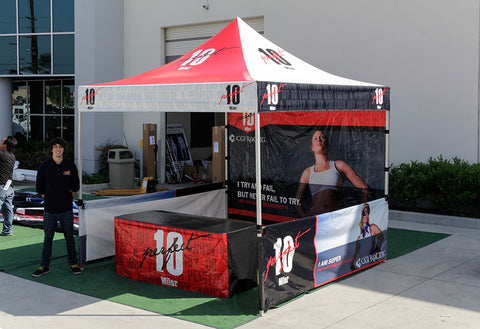 10x10 pop up tent with custom printing