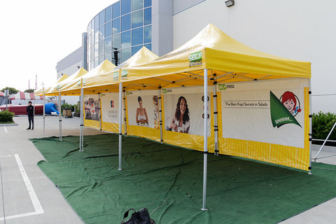 10x10 Pop Up Tents with custom Graphics