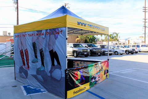 The Sox Box pop up tent