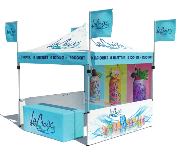 Printed Canopy Flag Pop Up Tent