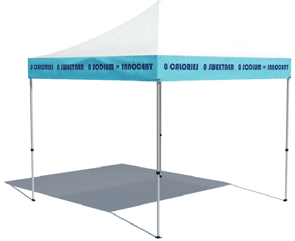Tent with Printed Valances