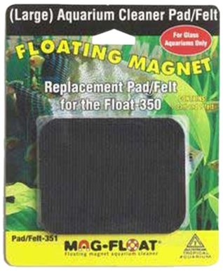 Package contains one pad and one felt for mag-float brand aquarium cleaners. Choose the one that fits your size and type of aquarium.