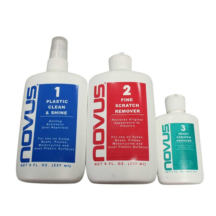 Novus Plastic Polish & Cleaning Set - 8 oz.