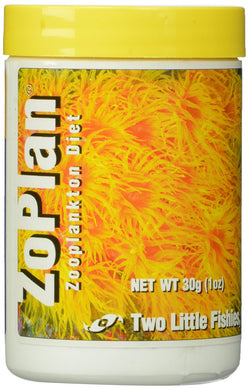 two little fishies zoplan, zoanthid foodZoPlan is a balance of dried crustaceans and other sea creatures rich in vitamins, trace elements, amino acids, and lipids. It is great for marine invertebrates such as soft and stony corals, seafans, anemones, zoanthids, clams, scallops, featherduster worms, and other filter feeders. It can also be used for plankton eating fishes.