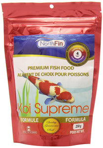 NorthFin's Koi Supreme formula offers your koi a complete and highly nutritional diet. Koi Supreme ensures your koi maintain its vibrant colours and health.