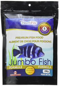 Northfin Food Jumbo Formula 6mm Pellet 250 Gram Package