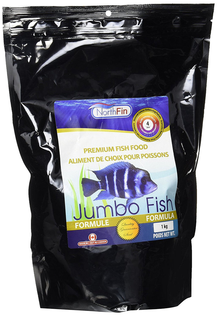NorthFin Jumbo Formula is professionally developed to improve the health and well-being of your larger freshwater carnivores and omnivores, while naturally enhancing their brilliant colors