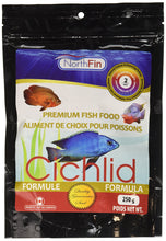 NorthFin's Cichlid formula is specifically made to enhance the fishes' well being and colors naturally.