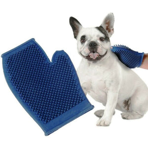 Pet Buddies PB5583 Dog and Cat Grooming Glove- One Size Fits All, Rubber, Blue