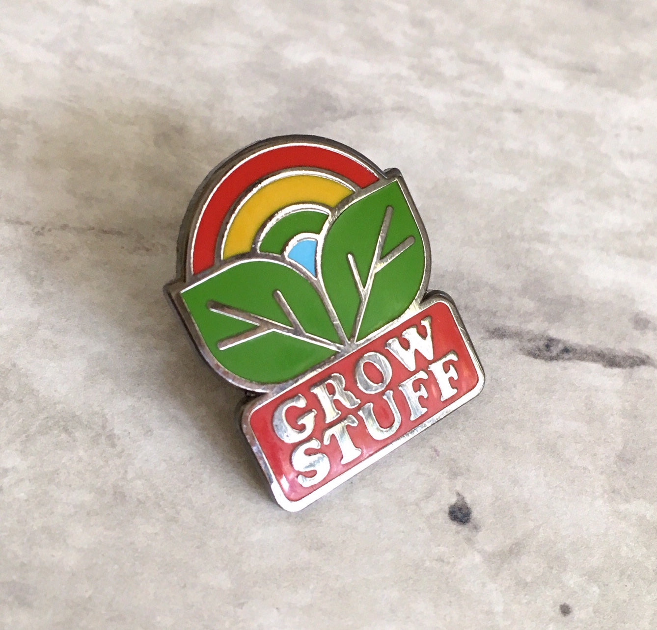Grow Stuff Pin Badge