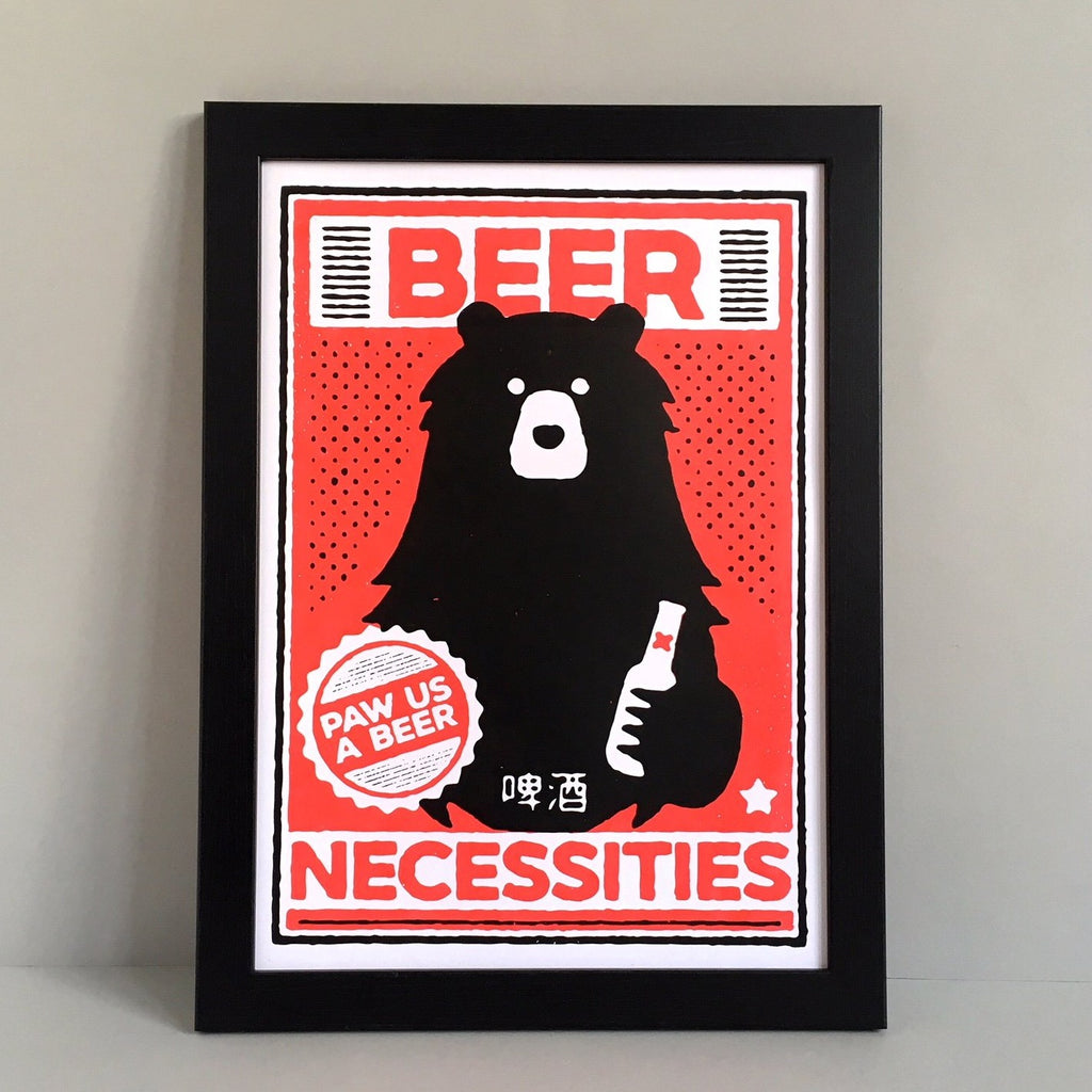 Beer Necessities A3 Screen Print