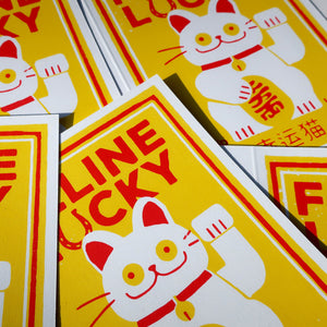 Feline Lucky Greeting Card