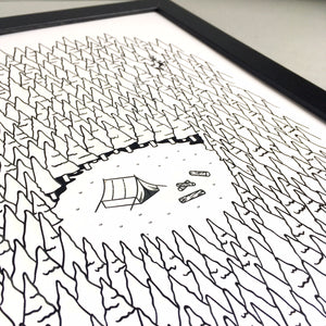 Woodland A3 Screen Print