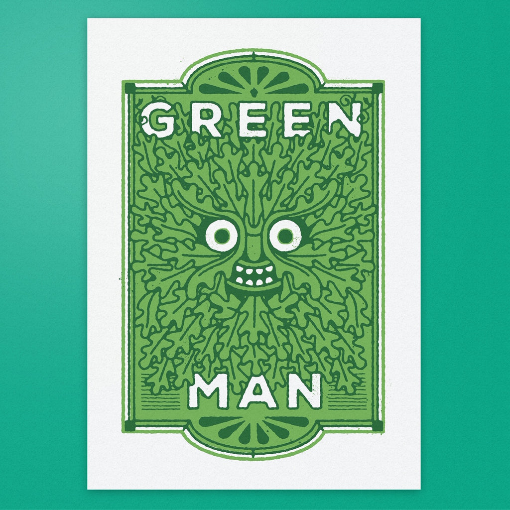The Green Man - Pub Name Prints