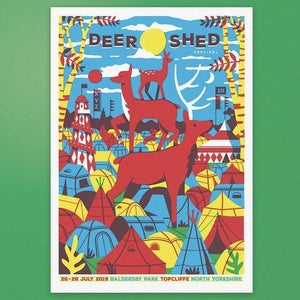 Deer Shed Festival 2019 A2 screen printed poster