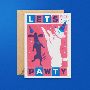 Lets Pawty Greeting Card