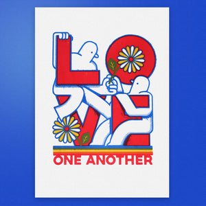 Love One Another A3 Screen Print
