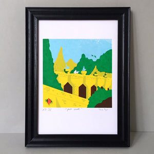 Parc Guell Barcelona A4 Screen Print