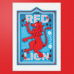 The Red Lion - Pub Name Prints