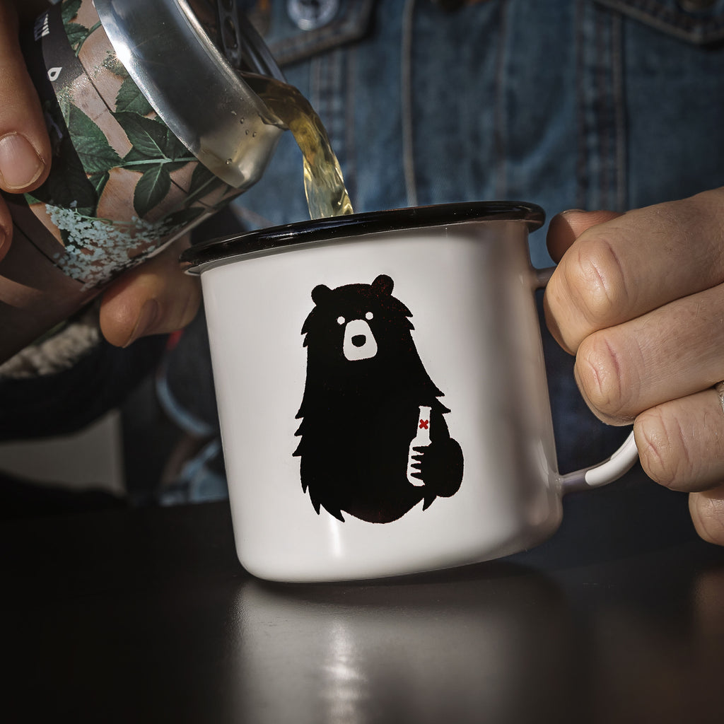 Beer Necessities Enamel Mug