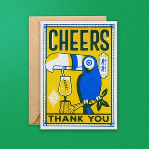 Cheers Thank You Toucan Greeting Card
