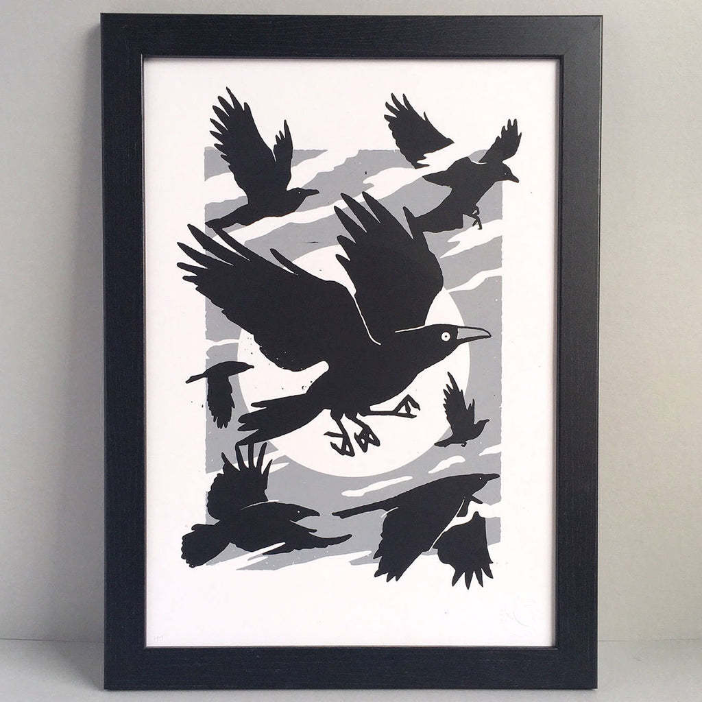 Crow A3 Screen Print
