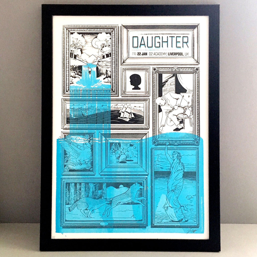Daughter UK Gig Poster