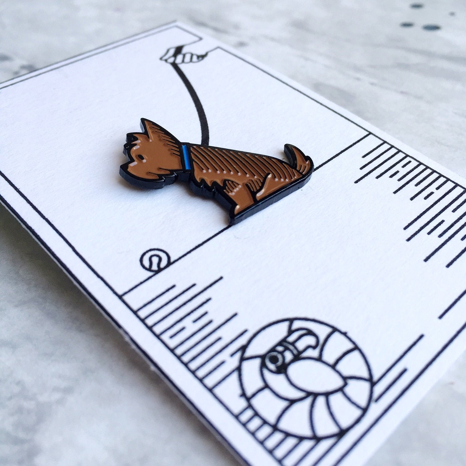 Yorkshire Terrier Pin Badge