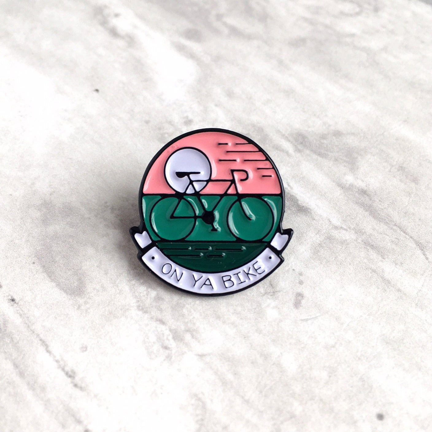 On Ya Bike Pin Badge