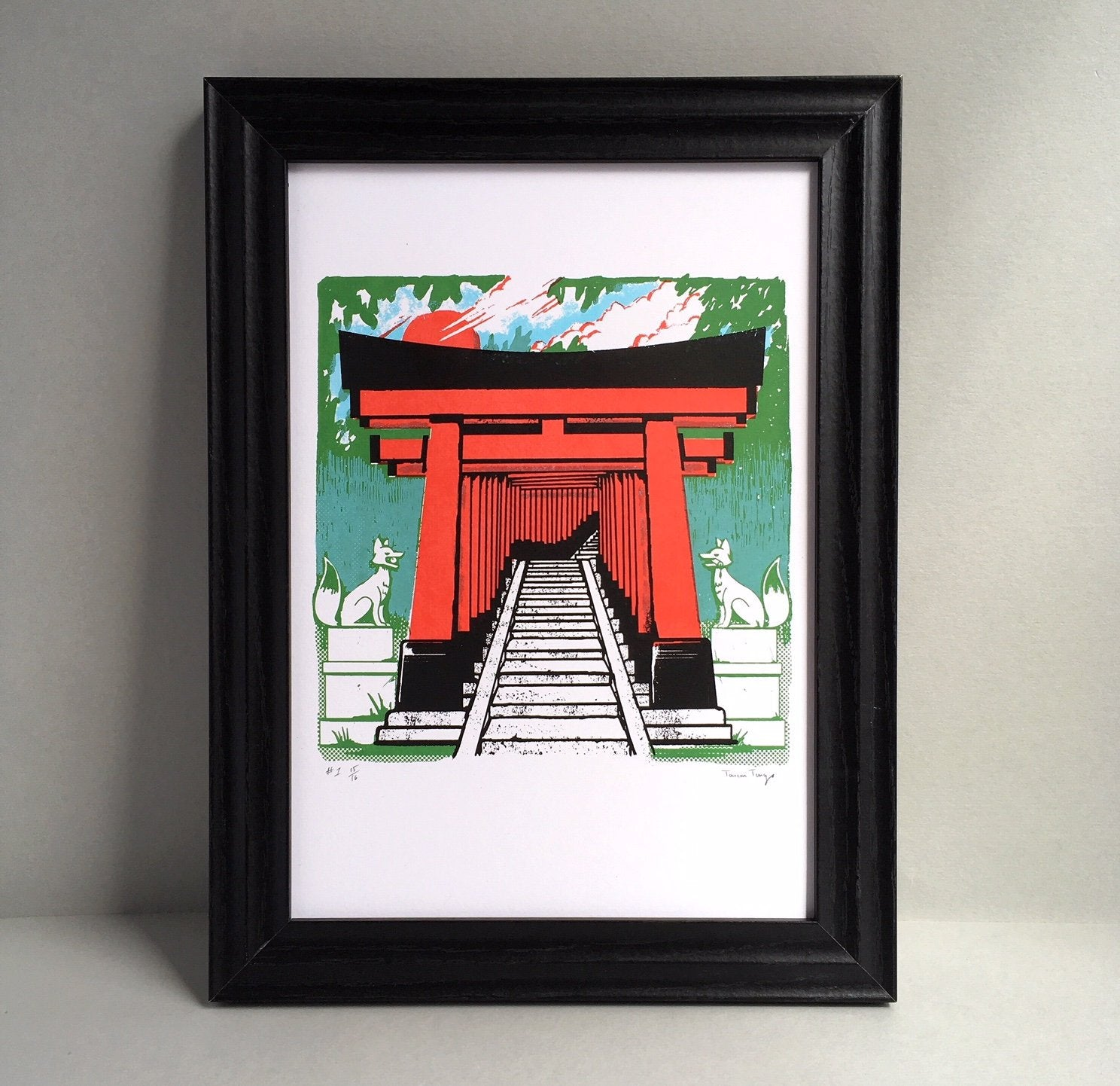 Fushimi Inari Shrine A4 Screen Print