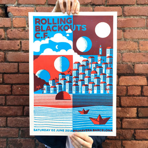 Rolling Blackouts Coastal Fever Gig Poster - SOLD OUT