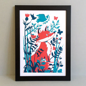 Fox A3 Screen Print