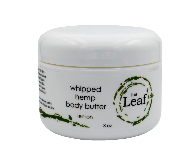 Whipped Body Butter w/Hemp Seed Oil - Lemon