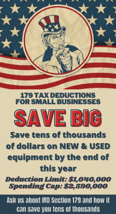 Save 179 tax deduction wide  format machines