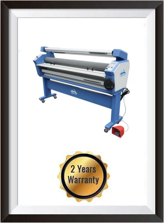 55in Full-auto Wide Format Cold Laminator, with Heat Assisted + 2 YEARS WARRANTY
