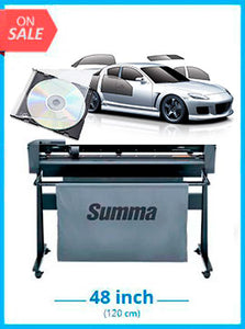 BUNDLE - SummaCut D120 48 in (120 cm) vinyl and contour cutting - New + Tint Tek 20/20 Window Film Cutting Software - 1 Year Subscription