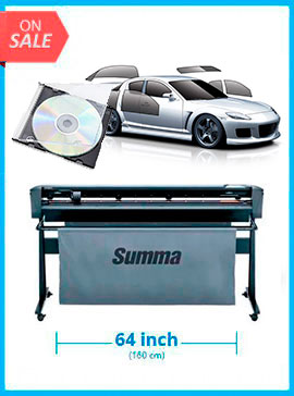 BUNDLE - SummaCut D160 64 in (160 cm) vinyl and contour cutting - New +Tint Tek 20/20 Window Film Cutting Software V10 Monthly Subscription